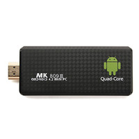 Wholesale MK809 III Quad Core Mini Android TV Box TV Dongle RK3188 G G Android Bluetooth