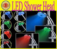 adjustable shower heads - LED Shower head RGB Adjustable Color changing Temperature Sensor Shower Mode A21