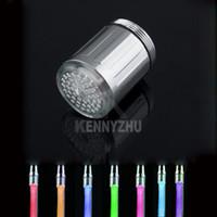 Wholesale Water Glow Shower Tap Multicolor Flash Colors LED Light Faucet Sink Tap