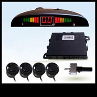 Wholesale LED Display Car Parking Sensor Reverse backup Radar System V White Black Silver