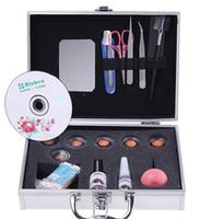 Christmas eyelash extension kit - New Pro False Eyelash Extension Graft Makeup Kit with Case factory price D