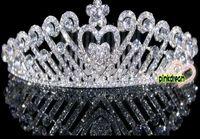 Crown Rhinestone/Crystal  Dazzling Korean Style Crowns Plug Comb Silver Wedding Bridal Crystal Veil Tiara Headband