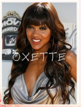 wavy remy lace front wigs with bangs brazilian virgin