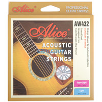 Wholesale Alice AW432P Coated Copper Alloy Wound String Colourful Ball End Acoustic Guitar Hexagonal Core String Set AW432P SL NEW