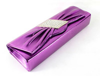 Wholesale 20pcs new fashion irregular diamond inlay butterfly knot Banquet PU Women Evening Bag Lady shoulder messenger handbag