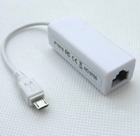 Wholesale 1pcs mbps micro USB to RJ45 Network Adapter LAN Ethernet Adapter for Android Tablet PC
