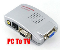 av switches - Universal PC VGA to TV AV RCA Signal Adapter Converter Video Switch Box Supports NTSC PAL system