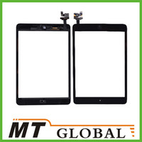 Wholesale Touch Screen Digitizer amp Camera Frame amp Home Button amp IC Control Circuit Logic Board Flex Cable for iPad MINI Black White Color High Quality