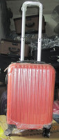 Wholesale 1 set pieces solide PC orange red suitcase trolley luggage box case for travelling inches