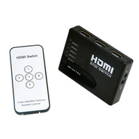 other audio port splitter - 5 Port P HDMI Switcher Splitter Box Audio Switch Hub for HDTV PS3 DVD IR Remote C368