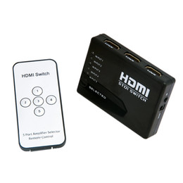 Wholesale 5 Port P HDMI Switcher Splitter Box Audio Switch Hub for HDTV PS3 DVD IR Remote C368
