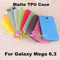 Silicone For Samsung Yes Frosted Matte Clear Soft TPU Gel Case Cover Anti-Dust Plug For Samsung Galaxy Mega 6.3 i9200 i9208