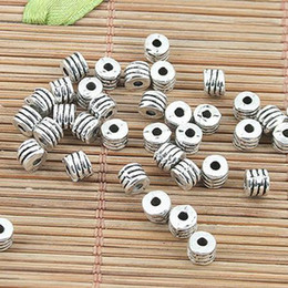 140pcs Tibetan silver tone round textured 4mm spacer beads EF0152