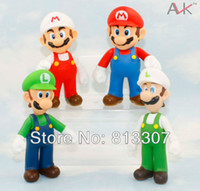 Wholesale Super Mario PVC Figure Mario Luigi Fire Mario Fire Luigi Figure Toy Dolls Styles