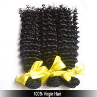Wholesale A Good Hair bundle Indian Brazilian Russian Eurasian hair for black women full cuticle genesis deep wave virgin human hair Free ship