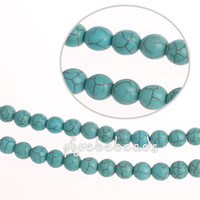 8mm, 10mm, 12mm turquoise beads - Strands Hot Sale mm mm mm Round Blue Turquoise Beads PBS T801
