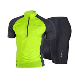 New Green Summer Comfortable Outdoor Cycling Bike Jersey + shorts Bicycle M - XXL