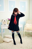 Wholesale Lingerie Ladies Lingeries Japanese School Uniform Cosplay Clothes Womens Night Fire Costumes Girls Sailor Suit Black Nightwear Cheap