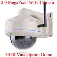 Indoor Infrared CCD 2.0 Megapixel 1080P 1920*1080 Resolution Vandalproof Dome Video Camera Network WIFI IP Camera Onvif