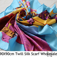 Wholesale 2013 Designer Brand Hand rolled pure silk twill x cm square scarfs fashion style scarf