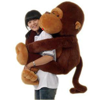 Coffee monkey - 110 cm quot GIANT HUGE BIG STUFFED ANIMAL SOFT PLUSH MONKEY DOLL PLUSH TOY