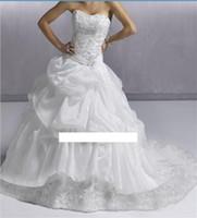 A-Line vestido de novia - Honesty_dress Store Special Custom Made Wedding Dresses Sweetheart Beaded Corset Court Train Lace Up Bridal Gowns Vestido de Novia