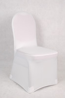 Wholesale white spandex lycra chair cover for weddings banquet chair cover