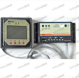 LLFA1298 - batteries 10A double solaire Contrôleur de charge Régulateur + lcd compteur 12V 24V pour VR, Bateaux (2Pcs)