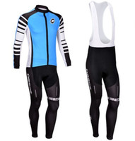 Wholesale 2013 New ASSOS team Winter Thermal Fleece cycling jersey long sleeve bib pants sets bicycle clothing Outdoor cycling clothing cycling wear