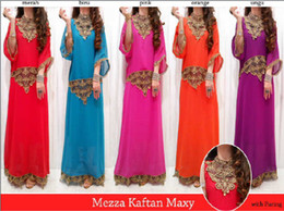 Wholesale Embroidery Trim Cool Muslim Dress Kaftanabaya Kaftan