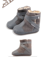 Boy Winter Leather 10%off!Classic casual gray baby warm shoes first walker shoes!toddler shoes!boy shoes!shoes sale!baby wear!china shoes!6pairs 12pcs.ZH