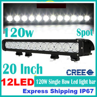 Wholesale 20 quot W CREE LED W Work Light Bar Off Road SUV ATV WD x4 Spot Flood Combo Beam lm V IP67 Jeep Truck Fog Lamp Dual Row