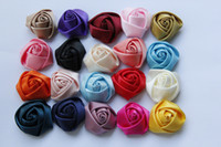 all occasions   Hot Sale Free Shipping!100pcs lot 3.5cm 20colors satin rolled rosette rose handmade flower for hair,garments DIY accessory