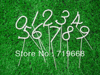 Wholesale numbers Diamante clear rhinestone Wedding Anniversary Birthday party decoration Cake Topper