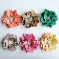 baby garment buttons - cm colors metal rhinestone button center fabric flower baby hair headband garment DIY accessory