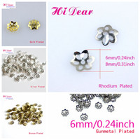 Wholesale Metal Bead Caps mm Iron Flower Shape Gold Silver Rhodium Bronze Black Sterling Fashion Jewelry Making Findings Jewellery DIY Accessories