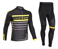 Full livestrong - Outdoor cycling clothing New Livestrong team cycling jersey long sleeve and pants sets High quality bicycle clothing cycling wear