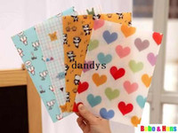 Wholesale New Cartoon style mini File folder A4 file bag paper clip stationery Filing Production