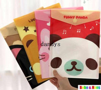 Wholesale New Cartoon funny animal File folder A4 documents file bag stationery Filing Production