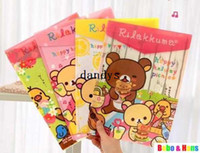 Wholesale New Cartoon rilakkuma designs II File folder A4 documents file bag stationery Filing Production