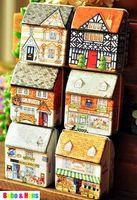 Wholesale New cute vintage house style secret Tin box gift metal case Multi purpose