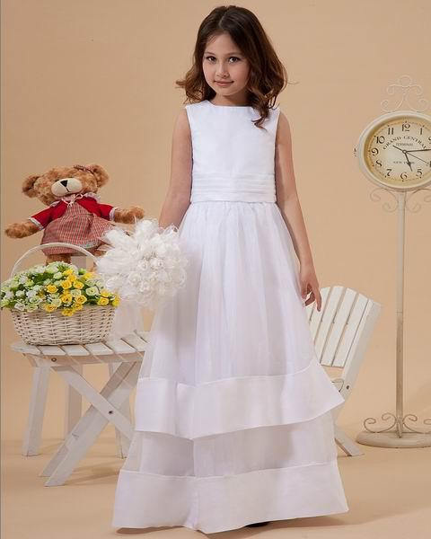 2013 Cute A-Line Organza & Satin Flower Girl Dresses Wedding Evening dresses Party dress girls pageant Cocktail Dress F 50
