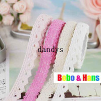 Wholesale New cute light colors lace Fabric Tape Decoration stationery Sticker label Fashion