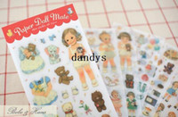 Wholesale NEW set Cartoon child Doll PVC sticker Decoration label Multifunction