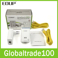 Wholesale EDUP EP PLC5513 Mbps Starterkit PowerLine Network Electric Power Adapter Link Ethernet Homeplug Free DHL Shipping