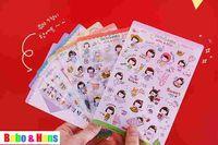 Wholesale NEW sheets set sweet girl PVC sticker note Decoration label