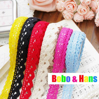 Wholesale New cute color lace Fabric Tape Decoration stationery adhesive Sticker label Fashion new