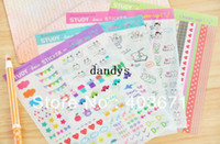 Wholesale NEW cute study series deco PVC sticker sheets set Decoration label