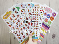 Wholesale NEW sweet rabbit girls deco PVC sticker sheets set Decoration label