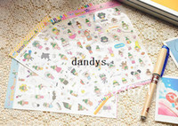 Wholesale NEW cute happy girl series deco PVC sticker sheets set Decoration label